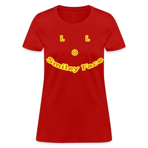LOL Smiley Face - T-Shirt - Womens - Women's T-Shirt