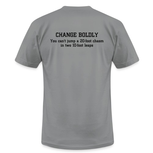 Jump Your Chasms! (back) - Men's  Jersey T-Shirt
