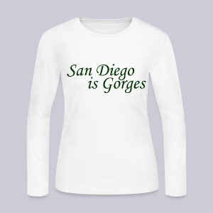 San Diego is Gorges - Women's Long Sleeve Jersey T-Shirt