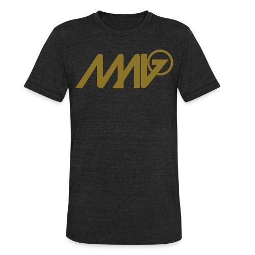 MENS Vintage Black Shirt MALO GOLD FOIL LOGO - Unisex Tri-Blend T-Shirt