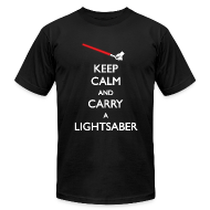 T-Shirts ~ Men's T-Shirt by American Apparel ~ Keep Calm Red Lightsaber