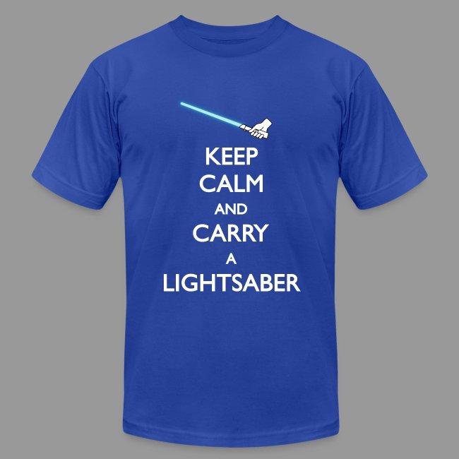 Keep Calm Blue Lightsaber