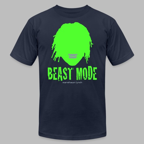 Beast Mode - Marshawn Lynch -  - Men's Fine Jersey T-Shirt