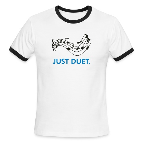 Just Duet, Musical Note T-shirt - Men's Ringer T-Shirt