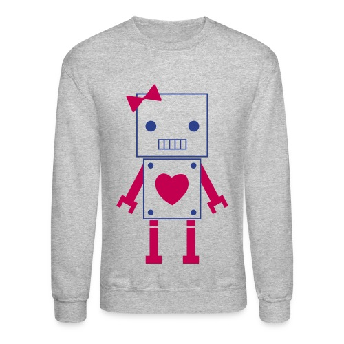 Swagged out robot Girl - Crewneck Sweatshirt