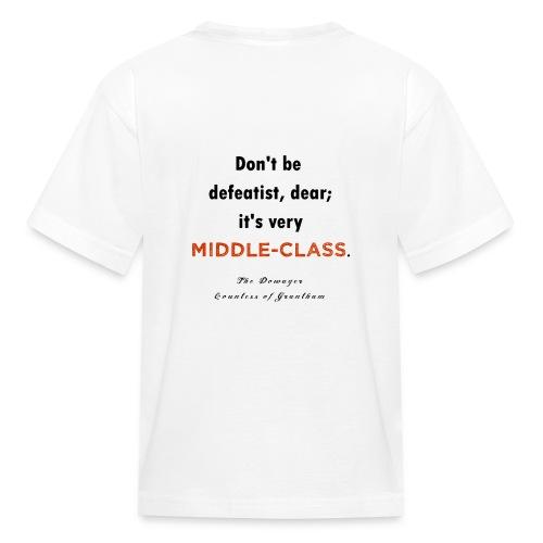 downton abbey : middle class - Kids' T-Shirt