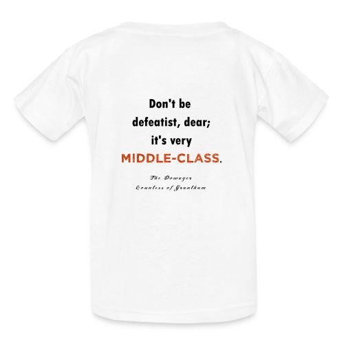 downton abbey : middle class - Kids' T-Shirt