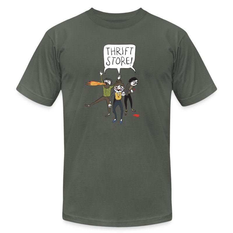 Hipster Zombies - Men's T-Shirt by American Apparel