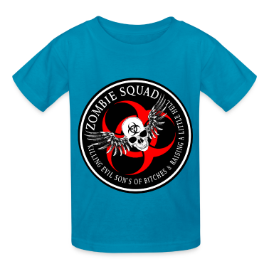 Zombie Squad 2 Ring Patch Revised Kids' Shirts
