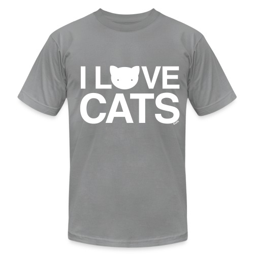 I Love Cats - Men's T-Shirt by American Apparel