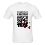 T-Shirts ~ Men's T-Shirt ~ Pulp Fiction: Bloody Ezekiel 25-17 v.2