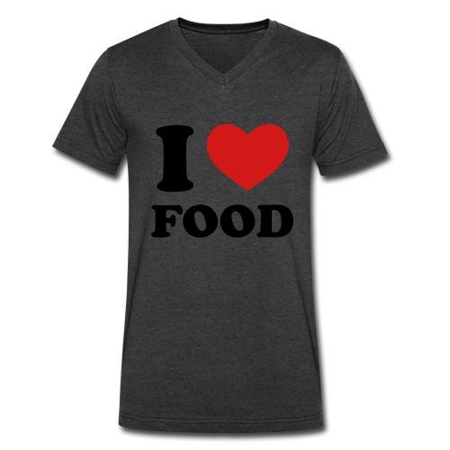 I Love Food - Men's V-Neck T-Shirt by Canvas