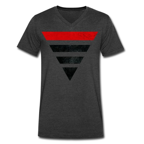 KONY 2012 Pyramid - Men's V-Neck T-Shirt by Canvas