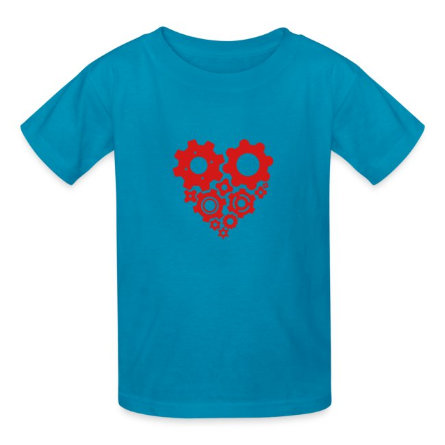 Red Gear Heart - Pick your own shirt color!