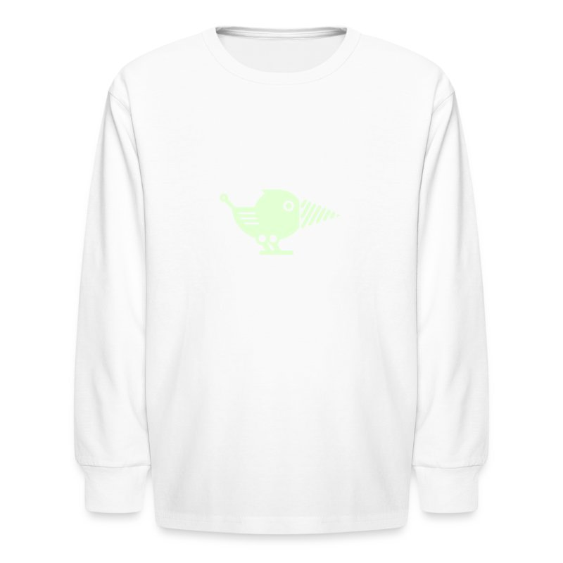 Glow Drillbot - Pick your shirt color! - Kids' Long Sleeve T-Shirt