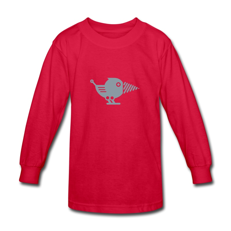 Silver Drillbot - Pick your shirt color! - Kids' Long Sleeve T-Shirt