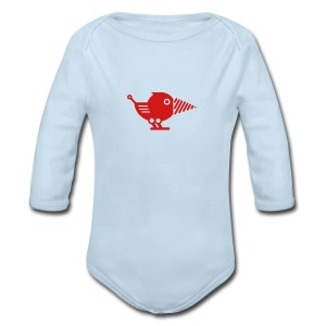 Red Drillbot - Pick your shirt color! - Long Sleeve Baby Bodysuit