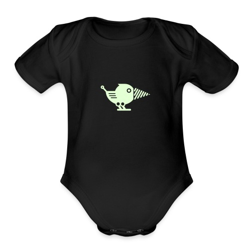 Glow Drillbot - Pick your shirt color! - Organic Short Sleeve Baby Bodysuit