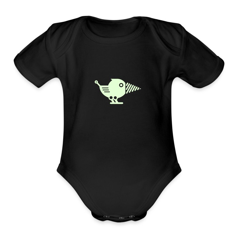Glow Drillbot - Pick your shirt color! - Short Sleeve Baby Bodysuit