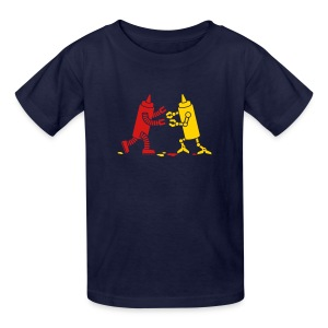 Navy Ketchup vs Mustard - Kids' T-Shirt