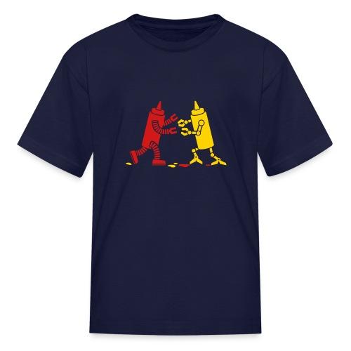 Navy Ketchup vs Mustard - Kids' T-Shirt
