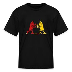 Black Ketchup vs Mustard - Kids' T-Shirt