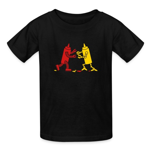 Black Ketchup vs Mustard - Kids' T-Shirt
