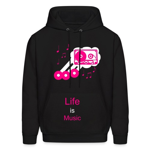 Music is Life - Men's Hoodie
