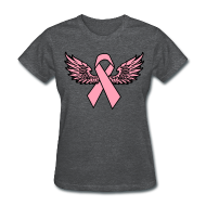 Women's T-Shirts ~ Women's T-Shirt ~ Winged Ribbon