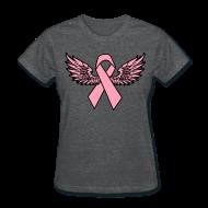 Women's T-Shirts ~ Women's T-Shirt ~ Winged Ribbon