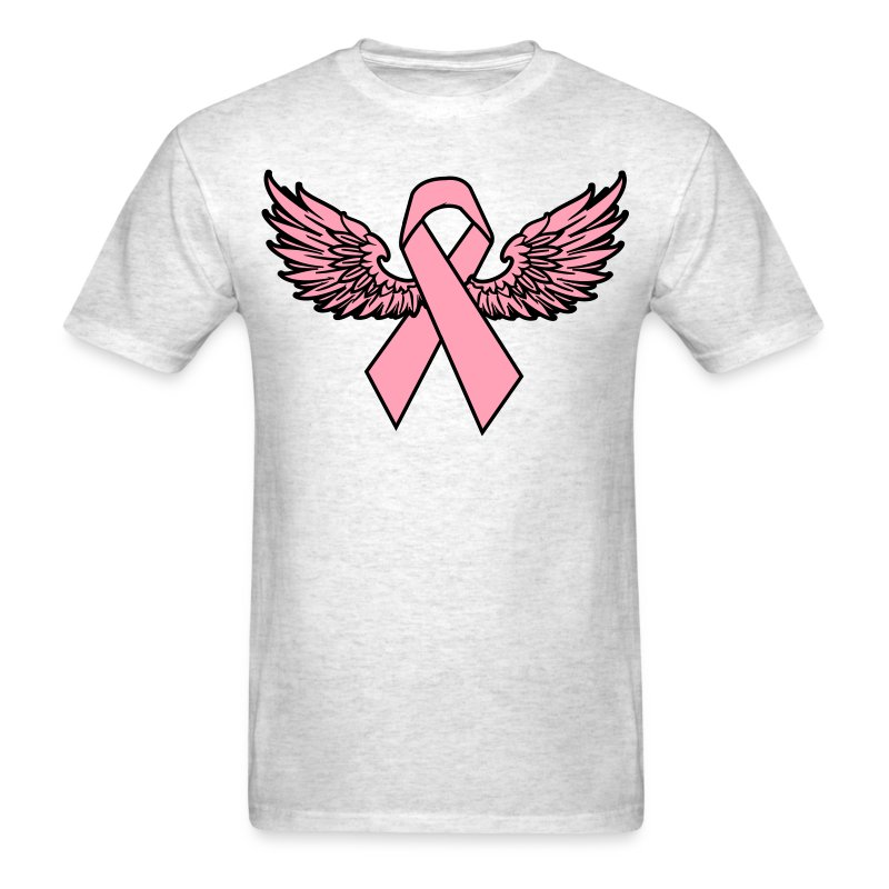 Winged Breast Cancer Awareness Ribbon T Shirts T Shirt