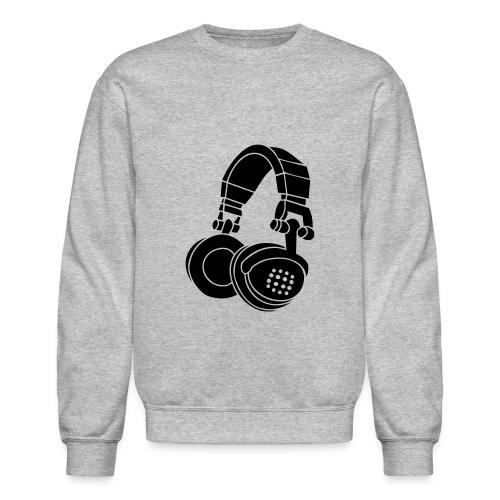 headphones sweatshirt - Crewneck Sweatshirt