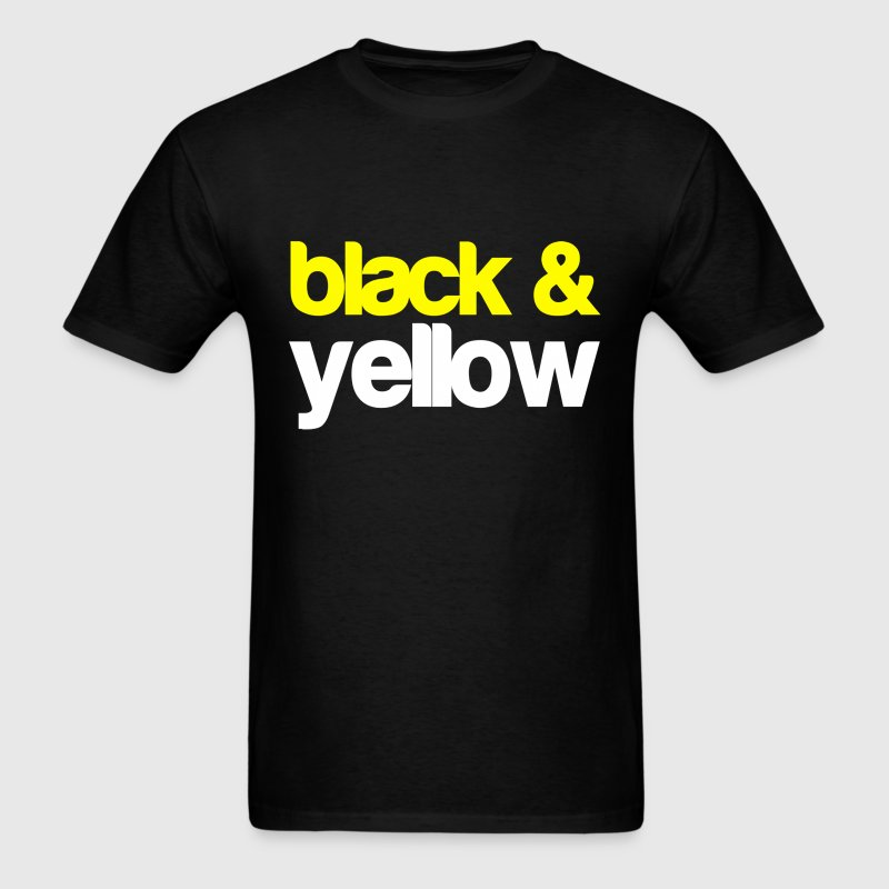 Black and Yellow Wiz Khalifa Design T-Shirts - Men's T-Shirt