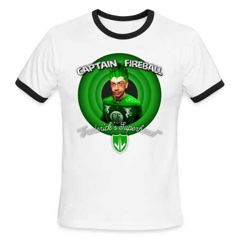 Captain Fireball Green Ringer - Men's Ringer T-Shirt
