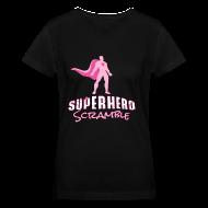 T-Shirts ~ Women's V-Neck T-Shirt ~ Classic Logo - Pink