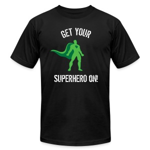 Get Your Superhero On! - Men's T-Shirt by American Apparel