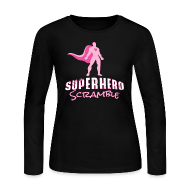 Long Sleeve Shirts ~ Women's Long Sleeve Jersey T-Shirt ~ Classic Logo - Pink