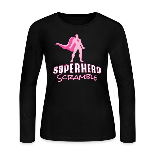 Classic Logo - Pink - Women's Long Sleeve Jersey T-Shirt