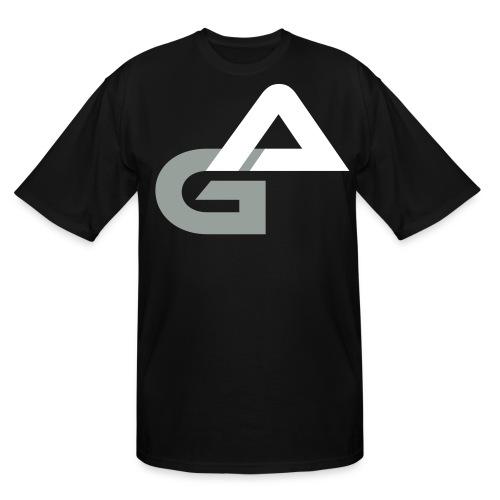 Black w/ White Letter AG T-Shirt - Men's Tall T-Shirt