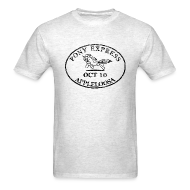 T-Shirts ~ Men's T-Shirt ~ Pony Express, distressed