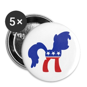 Politipony button (big) - Large Buttons