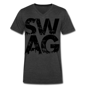 Black Swag T-Shirt - Men's V-Neck T-Shirt by Canvas