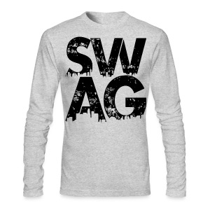 Black Swag Long Sleeve T-Shirt - Men's Long Sleeve T-Shirt by Next Level