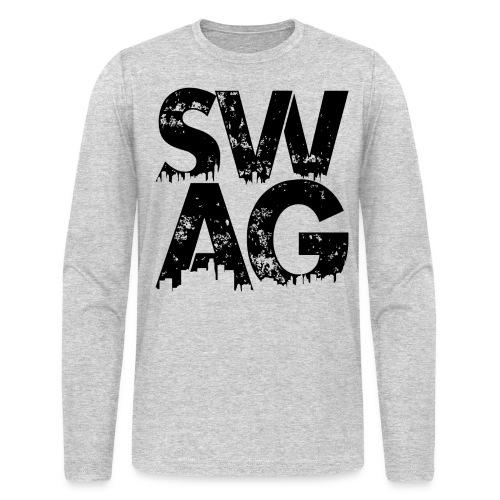 Black Swag Long Sleeve T-Shirt - Men's Long Sleeve T-Shirt by Next Level