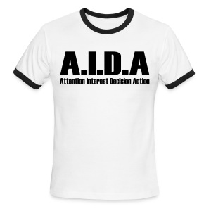 The Art of Selling | AIDA T-Shirt - Men's Ringer T-Shirt