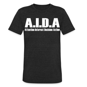 The Art of Selling | AIDA T-Shirt - Unisex Tri-Blend T-Shirt by American Apparel