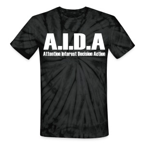 The Art of Selling | AIDA T-Shirt - Unisex Tie Dye T-Shirt