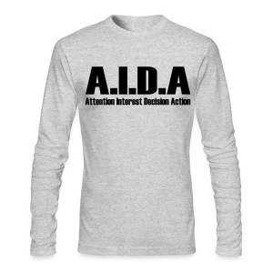 The Art of Selling | AIDA Long Sleeve T-Shirt - Men's Long Sleeve T-Shirt by Next Level