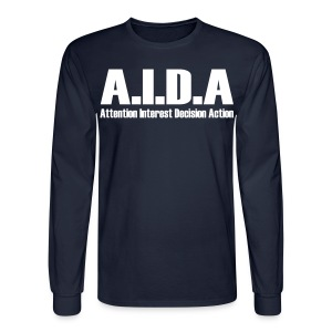 The Art of Selling | AIDA Long Sleeve T-Shirt - Men's Long Sleeve T-Shirt