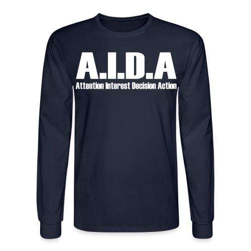 The Art of Selling | AIDA Long Sleeve T-Shirt - Men's Long Sleeve T-Shirt